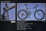 Das MTB 861 mit pulverbeschichtetem Stahlrahmen und Deore XT-Antrieb im '93er Katalog.