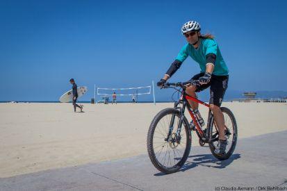 Dirk Rohrbach am Venice Beach auf STEVENS Sonora ES Di2