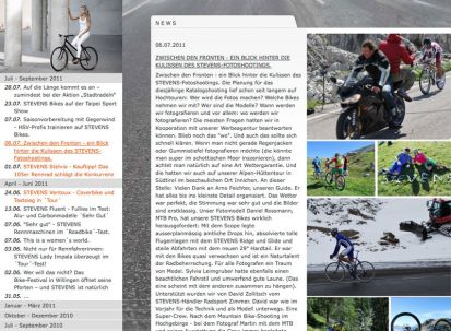 News-Archiv Screenshot