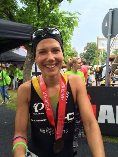 Ricarda Lisk becomes fifth in the Ironman 70.3 in Kraichgau