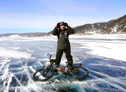 Wolfgang Kulow on lake Baikal