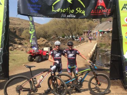 Andre Paschke and Frank Ziemann won the open male Category at Lesotho Sky Race on STEVENS Bikes