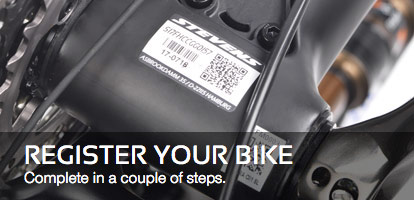 Register Your Bike: Complete in a couple of steps.